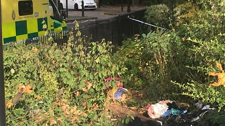 A homeless woman living in Newington Green could have died when her tent was torched today. This pic