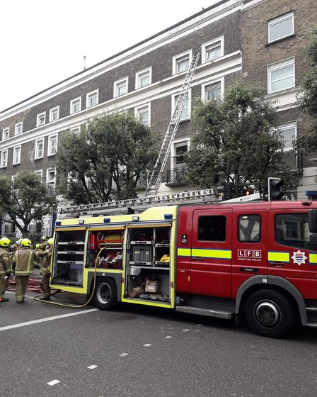 The London Fire Brigade brought the Holloway Road fire under control. Picture: LFB