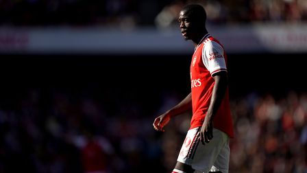 Arsenal's Nicolas Pepe during the Premier League match at the Emirates Stadium, London.