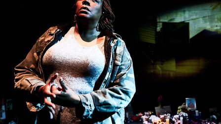 Dael Orlandersmith in Until The Flood at The Arcola Theatre picture by Alex Brenner