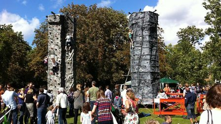 Climbing walls at Queen's Park Day 2018. Picture: Queen's Park Area Residents� Association