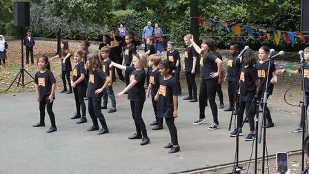 Children from Stagecoach performing arts school entertain at Queen's Park Day. Picture: City of Lond
