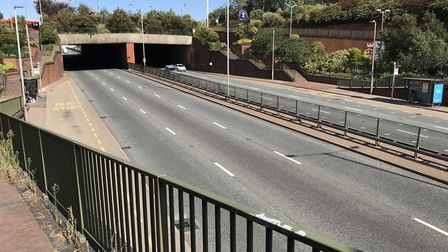 A bus stop in a layby on the North Circular. Bus users will need to walk there if they normally get