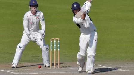 Middlesex's John Simpson bats during day four of the Specsavers County Championship Division two mat