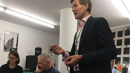 Spa Green Estate AGM 2019. Islington Council's technical services manager Garrett McEntree. Picture: