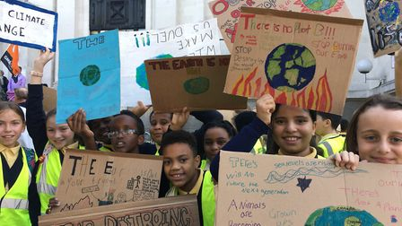 Children from Laycock Primary School at Friday's climate strike. Picture: Freya Pickford