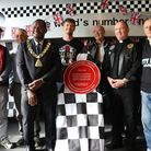 The Red Wheel plaque from the Transport Trust unveiled at the Ace Cafe. Picture: Toni Harris