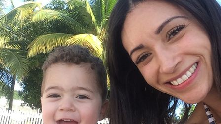 Christel was stabbed outside her home while pushing Henley, 3, in his buggy. Picture: Supplied