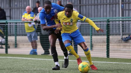 Anthony McDonald of Haringey Borough in the FA Cup win over Herne Bay. Picture: George Phillipou/TGS