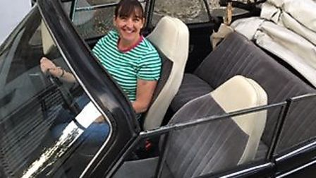 Louise Tucker will drive her WV Beatle around Europe before the October 31 Brexit deadline. Picture: