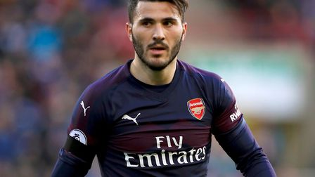 Arsenal's Sead Kolasinac. Picture: Mike Egerton