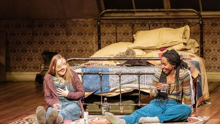 No laughing matter: Imogen Doel and Tamara Lawrence in The Tell-Tale Heart. Photo: Manuel Harlan