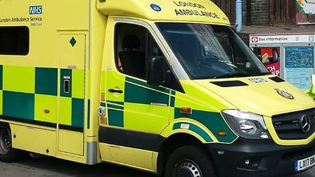 Stock image of London Ambulance Service van . Picture: Ken Mears
