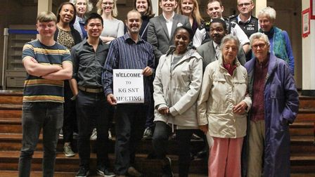 Track Academy founder Connie Henry (front row centre) at the Kensal Green Safer Neighbourhood Team m