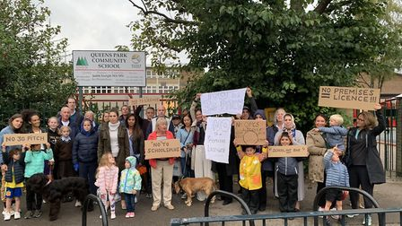 Neighbours of Queen's Park Community School oppose 3G football pitch plans and premises licence thre