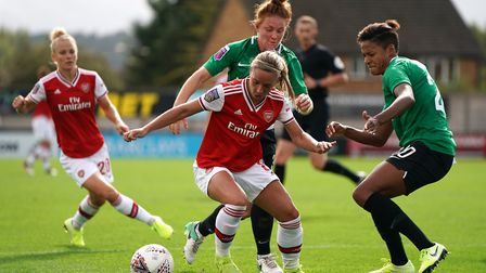 Arsenal's Jordan Nobbs during the FA Women's Super League match at Meadow Park, London. Picture: Tes