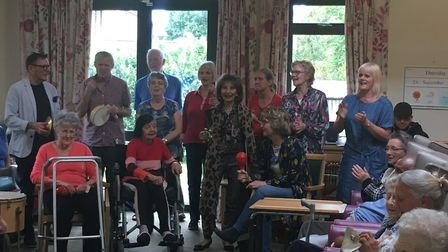 Cricklewood Choir take part in dementia home's music therapy day. Picture: Nathalie Raffray