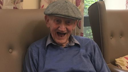Harry Edwards, who lives at Lawnfield Care Home, loves the music therapy sessions. Picture: Nathalie