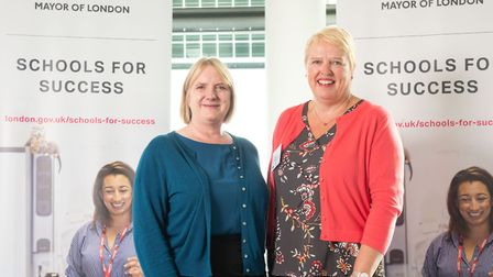 Deputy mayor for education Joanne McCartney with executive head Clare McFlynn. Picture: Eleanor Bent