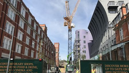 The new Islington Square development from the neighbouring streets. Picture: Adrian Zorzut