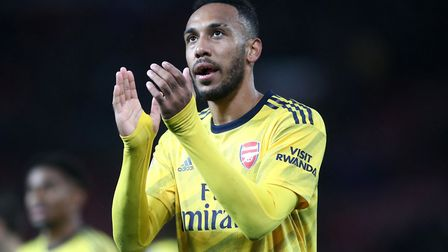 Arsenal's Pierre-Emerick Aubameyang after the Premier League match at Old Trafford, Manchester. Pict