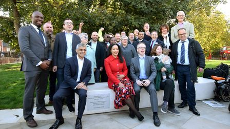 The launch of the new space with Cllr Claudia Webbe, Sadiq Khan, and leader of Islington Council Cll