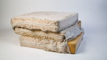 Winter Shelter Bed. An item from the Museum of Homelessness' collection. Picture: Daniel Moss and Se