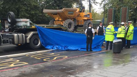 A lorry collided with and killed a pedestrian in Seven Sisters Road. Picture: Supplied