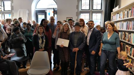 MPs and councillors come to congratulate Friends of Kensal Rise Library who successfully battled the