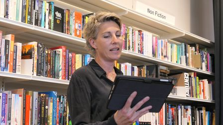 Actor Tamsin Greig at the re-launch of Kensal Rise Library. Picture: David Nathan
