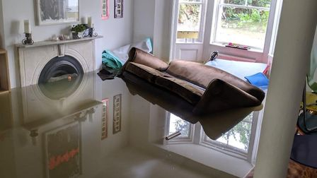 A burst pipe flooded Finsbury Park and submerged this basement flat in Queen's Drive. Picture: Suppl