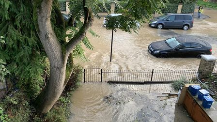 People living in Brownswood Road woke up to flooding. Picture: @TomashhEvans