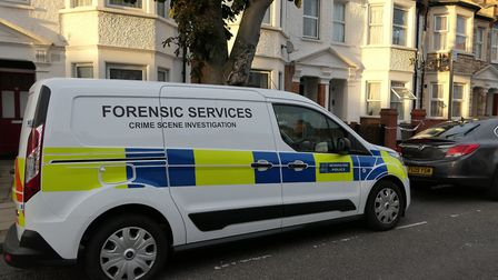 Police at Ambleside Road in Harlesden after a woman was found dead in 'suspicious' circumstances. Pi