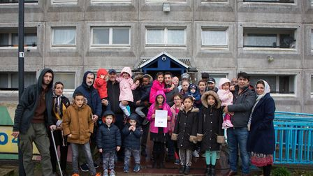 Some of the families in Hereford House in South Kilburn last year who do have a vote on the future