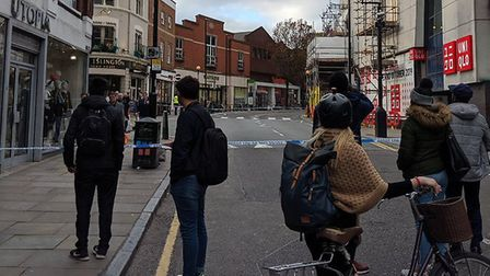 Liverpool Road is taped off. Picture: Phil Ford