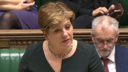 Emily Thornberry and Jeremy Corbyn, pictured in Parliament, both praised the police response in West
