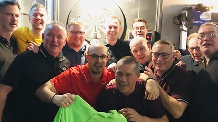 The Doyles team in the Archway Darts League. Picture: James Martin