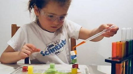 Poppy is one of Little Scientists Club's biggest fans. Picture: LSC