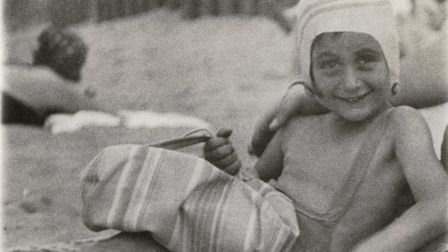 Anne Frank at the beach 1934. Picture: Anne Frank Trust.