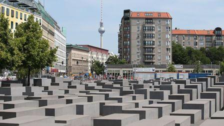 The Memorial to the Murdered Jews of Europe, also known as the Holocaust Memorial, in Berlin, German