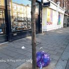 The bag of rubbish from Nando's restaurant in Upper Street, which saw the chain fined more than £730