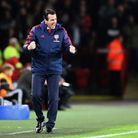 Arsenal manager Unai Emery on the touchline during the Premier League match at Bramall Lane, Sheffie