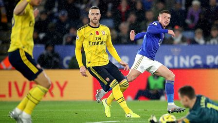 Calum Chambers during the Premier League match at the King Power Stadium, Leicester. Picture: Nick P