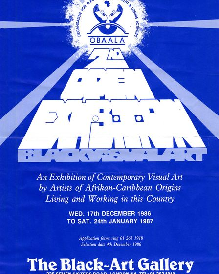 A poster for the gallery's second Open Exhibition in December 1986. Picture: Islington Local History