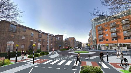An artist's impression of the new look Cycleway. Picture: sscarano