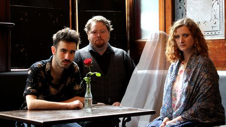 Reece Connolly, Caroline Buckley and Christopher Keegan feature in Last Orders. Picture: Old Red Lio