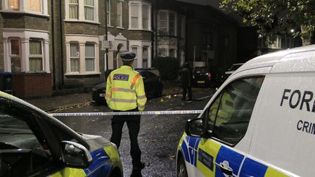 The police cordon at the scene of a stabbing in Mordaunt Road, Harlesden. Picture: David Nathan