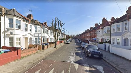 Ambleside Road in Harlesden, where a woman was found dead by police earlier today. Picture: Google M