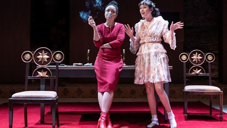 Amber James and Sophie Wu play Anna and Lyudmila. Picture: Marc Brenner.