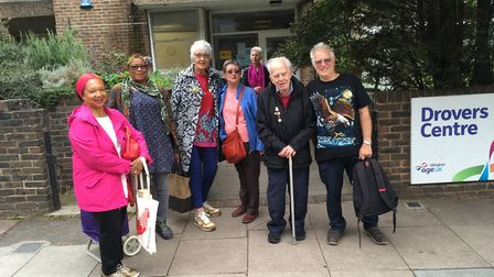 Service users of the Drovers Centre don't want it to close. Picture: Lucas Cumiskey